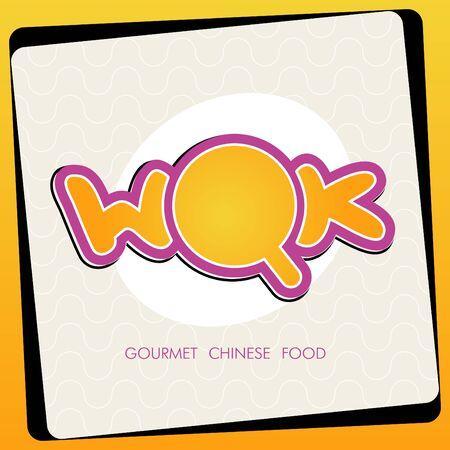 fried noodle: Wok label