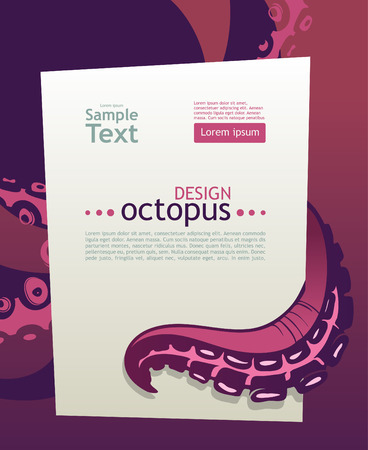 Octopus tentacle. Place for your text Vector