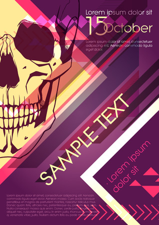 large skull: Party poster design with skull