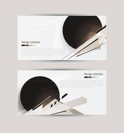 抽象的な: 抽象的なバナー  イラスト・ベクター素材