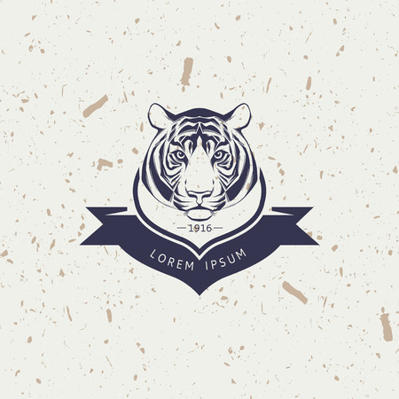 head icon: Tiger mascot emblem symbol. Vector illustration.
