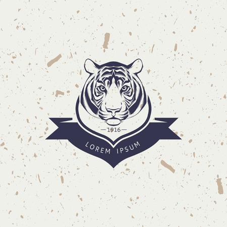 tiger: Tiger mascot emblem symbol. Vector illustration.