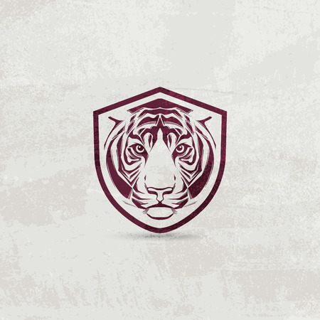 tiger: Icon design element with tiger head
