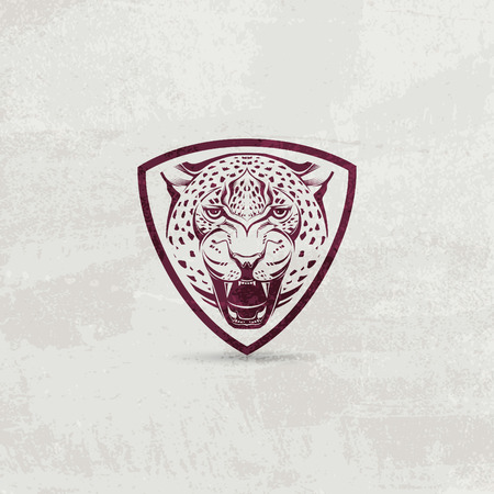 leopard: Icon design element with leopard head Illustration