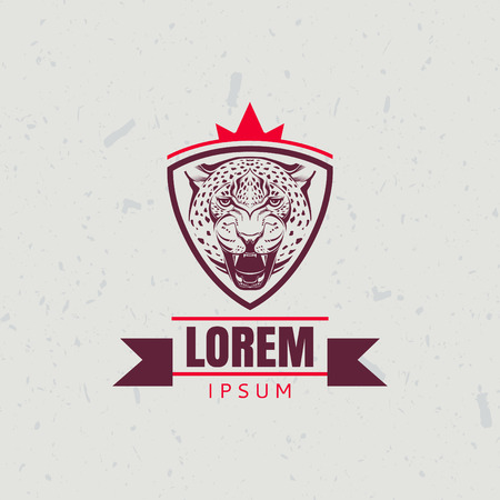 leopard head: Icon design element with leopard head Illustration