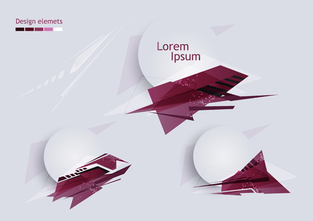 Abstract design template with elements.