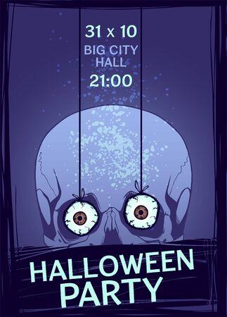 intertainment: Halloween Party design template. Vector illustration.