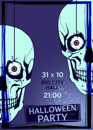 intertainment: Halloween Party design template.