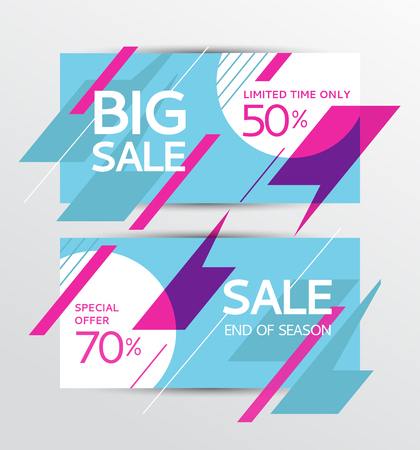 sellout: Set of sale banners design. Vector illustration Illustration