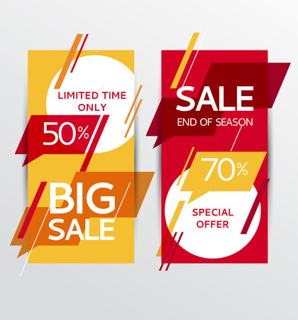 auction off: Sale banners. Vector illustration