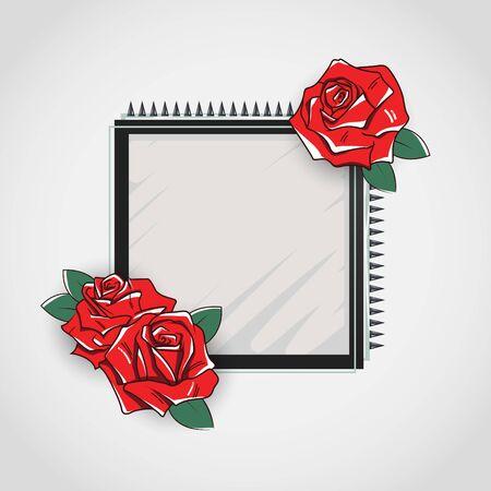 spring roll: Floral frame illustration
