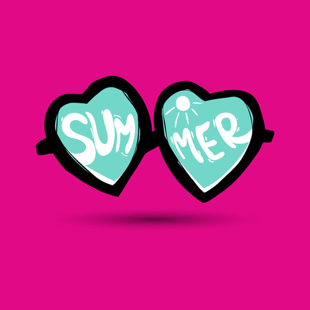 uv: Sunglasses illustration. Summer illustration