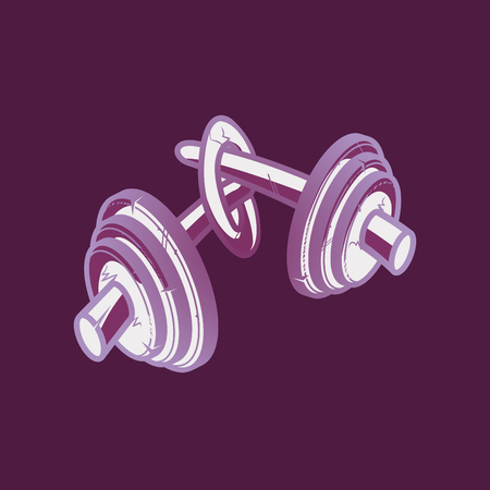 knotted: Knotted weight barbell
