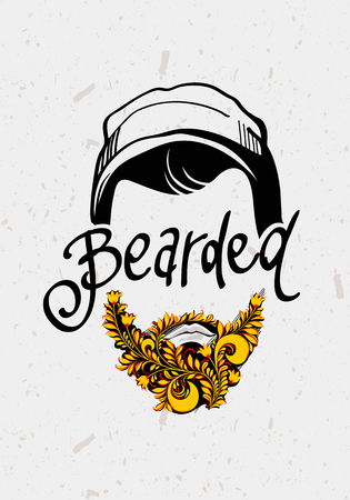 Beard and mustache. Traditional Russian Style