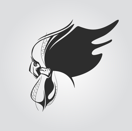 tatoos: Rooster Vector