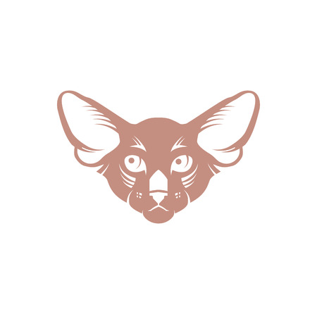 Vector image of a cat face design Illustration
