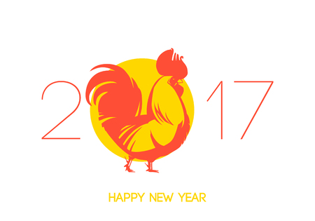 dcor: Vector illustration of rooster. Vector element for New Years design