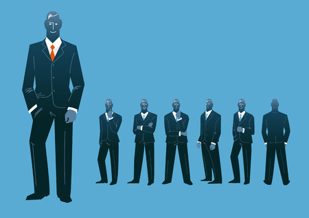 Set of silhouettes of business people Illustration