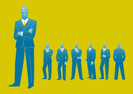 Businessman characters. Vector