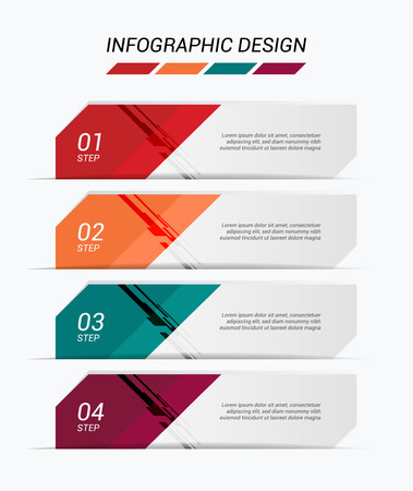 Modern infographic colorful web design template. Vector illustration. Çizim