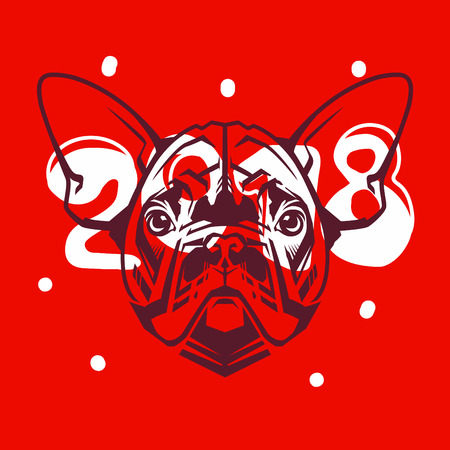 Funny Dog Symbol Of The 2018 Chinese New Year Royalty Free