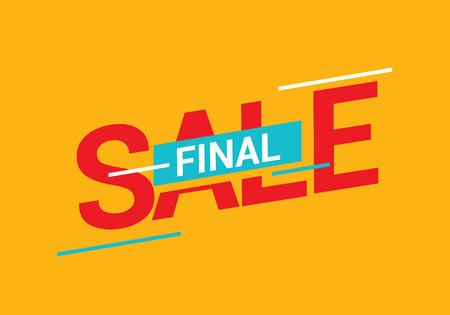 Final sale banner on orange backdrop. Illustration
