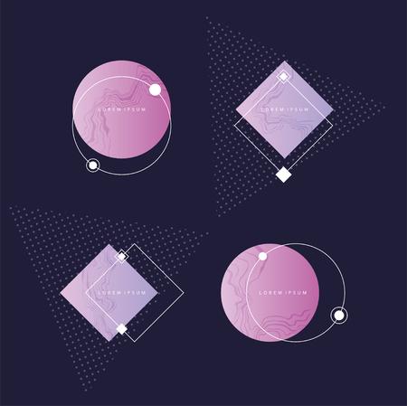 Elementos de diseño abstracto futurista. Foto de archivo - 90231307
