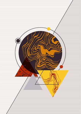 Poster with modern geometric design. Illustration