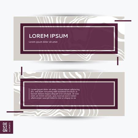 Abstract banner design with marble wall texture and background.