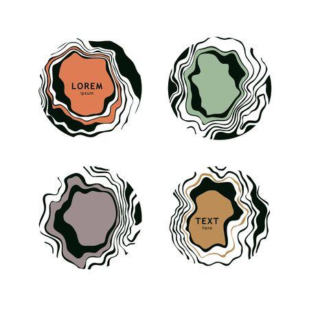 Hermosos elementos de diseño de mármol. Ilustración vectorial Foto de archivo - 91674937