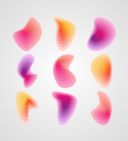 Set of colorful vector shapes. Abstract vector banners.