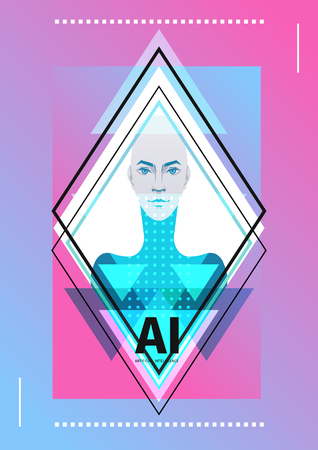 Artificial intelligence in the form of a girl