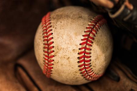 needlecraft product: Baseball glove with ball.