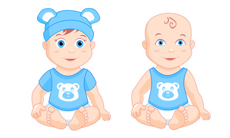 petite: little boys sitting in the blue suits