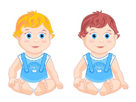 petite: Boys sit in pamersah and blue blouses