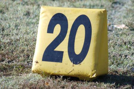 Football yard marker Stock fotó