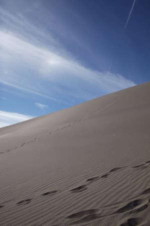 Steep side of a sand dune rising upward 写真素材