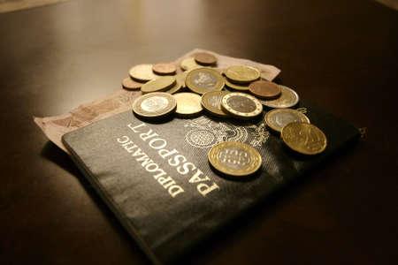 Coins on Passport
