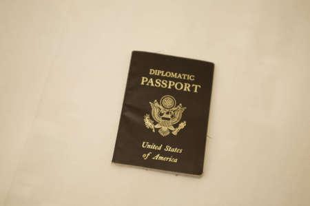 diplomatic: Diplomatic passport on white background Stock Photo