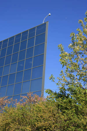 appears: Building which appears to be a flat panel without depth