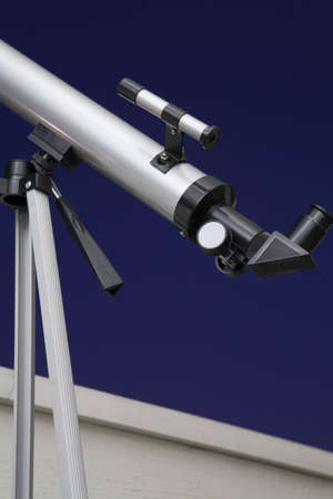 stargazing: Close up of a telescope for stargazing at night. Seeing clearly far away