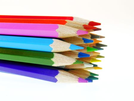 group of colorful pencils                  photo