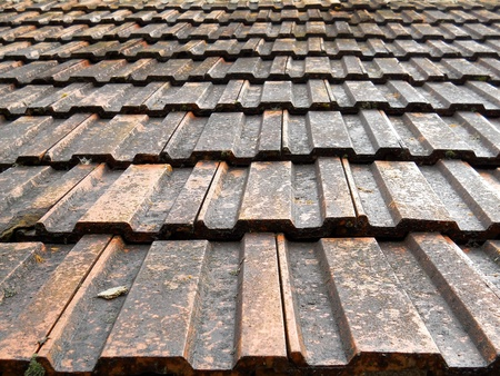 Roof tiles background photo