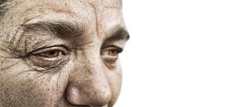 vejez: aspecto llamativo dram�tica de una mujer de edad Foto de archivo