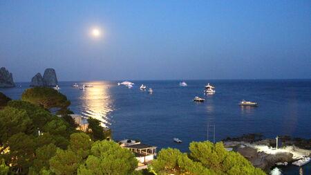 capri: Night view of Capri Stock Photo