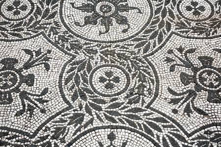 Roman mosaic in Villa Adriana Stock Photo