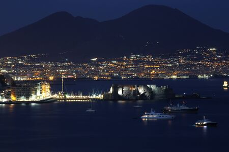 seaa: View of Naples bay by night