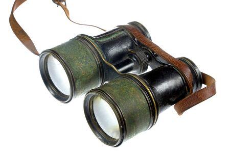 antique binoculars: Antique binoculars isolated on white Stock Photo