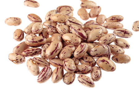 borlotti beans: Borlotti beans on white Stock Photo