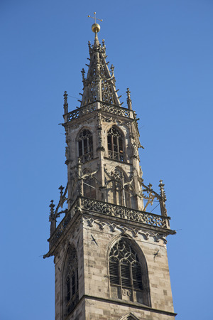 church steeple: Church steeple of the Bozen Cathedral
